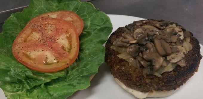 veggie burger at Merchant Man copy
